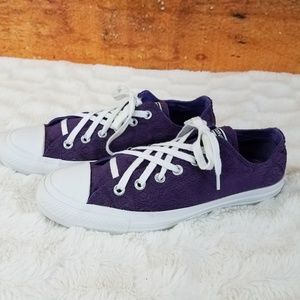 Converse All Star Sneakers Purple lace overlay 9